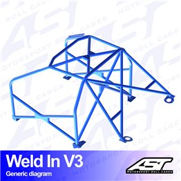 VW Polo (6R) 3-doors Hatchback WELD IN V3