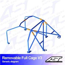 VW Scirocco (Mk3) 3-doors Hatchback REMOVABLE FULL CAGE V3