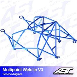VW Scirocco (Mk3) 3-doors Hatchback MULTIPOINT WELD IN V3
